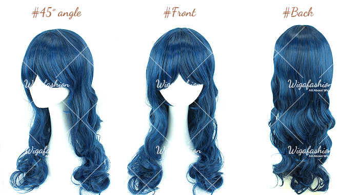 Two Tone Green/Blue Long Wavy 65cm-45-front-back.jpg