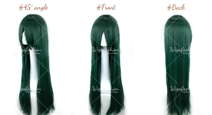 Bright Green Long Straight 90cm-45-front-back.jpg