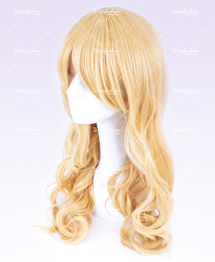 Light Blonde Pink Highlight Long Wavy 65cm-1.jpg