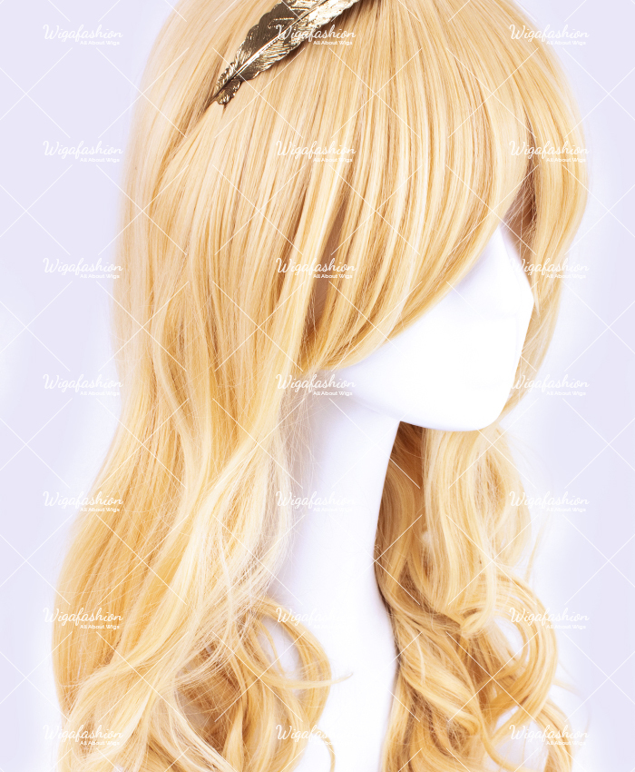 Light Blonde Pink Highlight Long Wavy 65cm-2.jpg