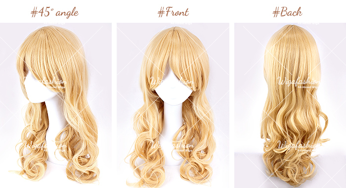Light Blonde Pink Highlight Long Wavy 65cm-45-front-back.jpg