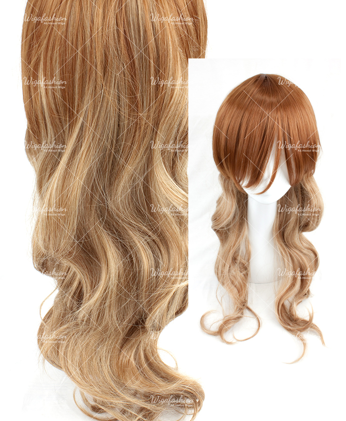 Two Tone Dark Brown/Blonde Long Wavy 70cm-2.jpg