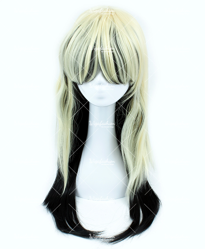 Blonde with Rainbow Tail Long Wavy 75cm-2.jpg