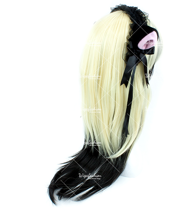 Blonde with Rainbow Tail Long Wavy 75cm-3.jpg