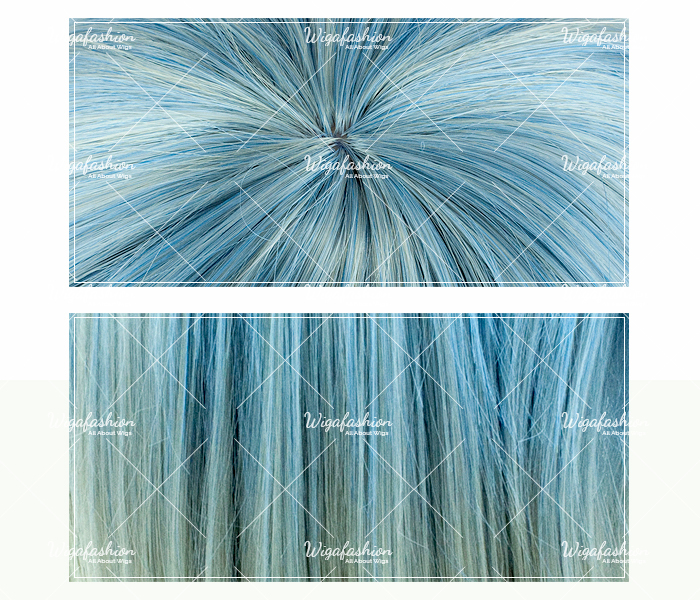 Two Tone Blonde/Blue Long Curl 70cm-closeup.jpg