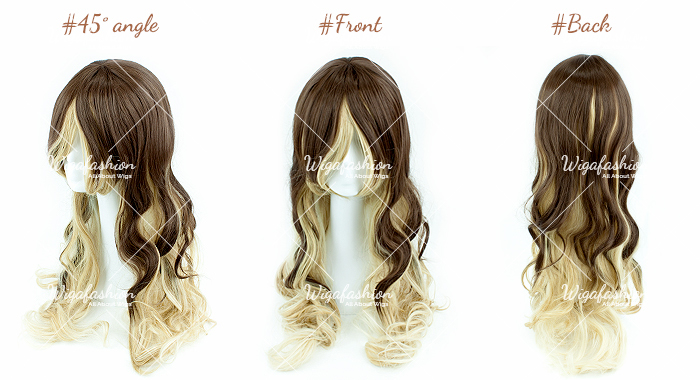 Two Tone Blonde/Blue Long Curl 70cm-45-front-back.jpg